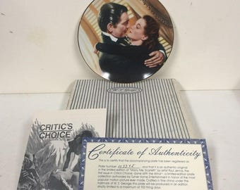 1991 Gone with the Wind Marry Me Scarlett! Plate 1st Issue LE w Box COA