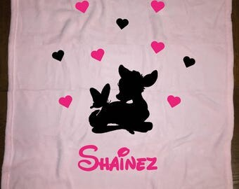 light pink fleece baby blanket