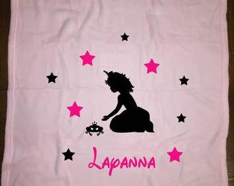 light pink fleece baby blanket
