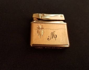 Kreisler Gold Tone Monogrammed Lighter