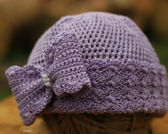 Crochet  Pattern - crochet hat - pattern hat - baby girl hat \Sizes: 0-3 months, 3-6  months, toddler, child, adult