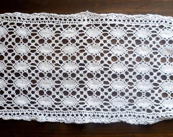 Handmade white cotton thread doilies. Handmade white cotton thread doilies