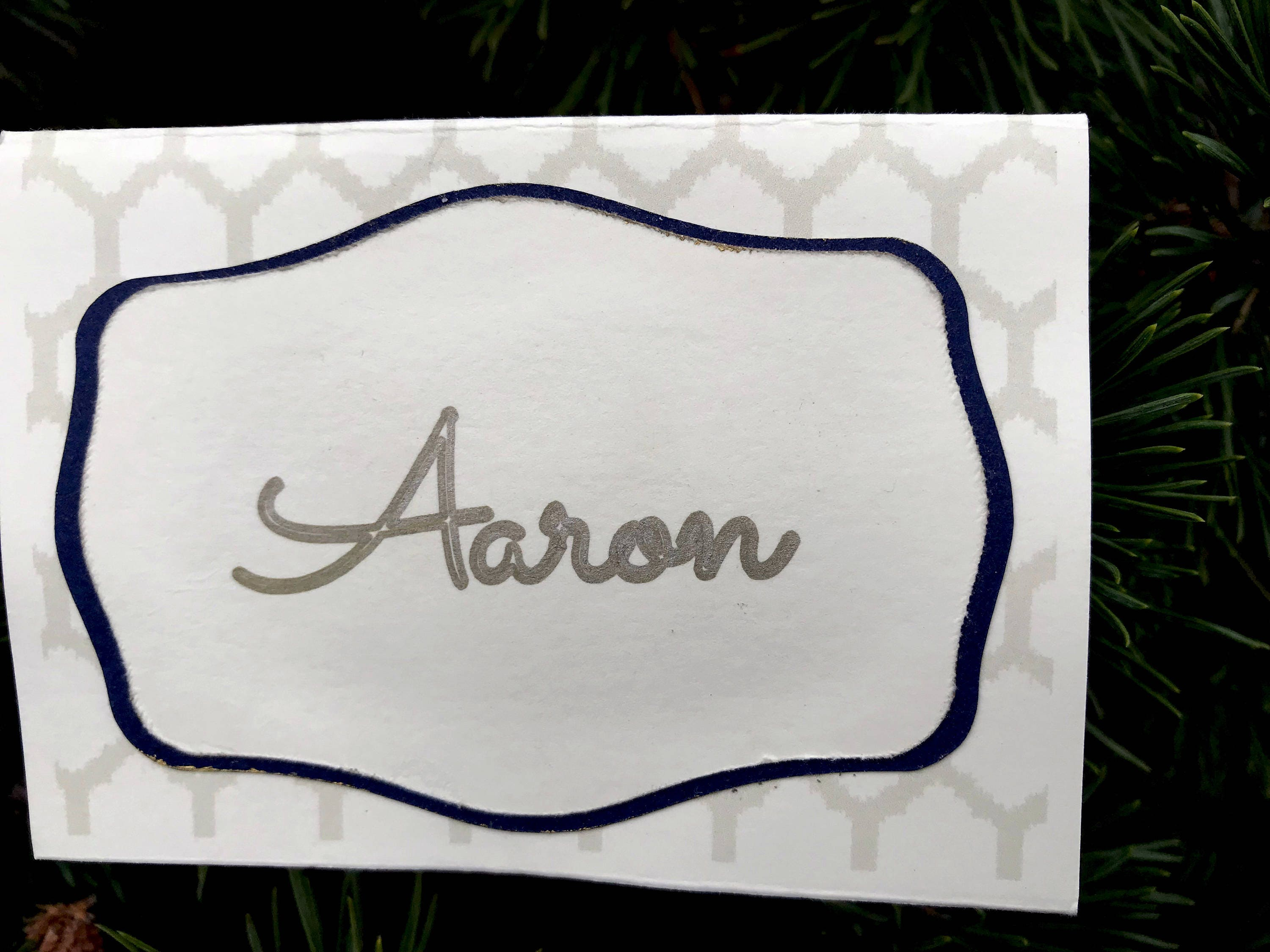 Rustic Wedding Name Cards Table Place Cards Art Deco Place Cards