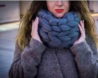 chunky scarf etsy. Black Bedroom Furniture Sets. Home Design Ideas