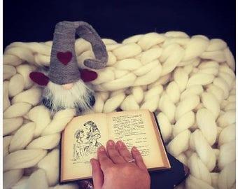 ON SALE Blanket - Baby blanket - Swaddle blanket - Throw blanket - Wool blanket - Crochet blanket - Chunky yarn blanket - Knitted blanket -