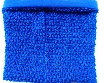 STRAPLESS stretch 2 to 6 years old Double Royal Blue crochet for making TUTU dress