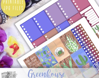 Greenhouse Weekly Kit - Printable Stickers for HAPPY PLANNER