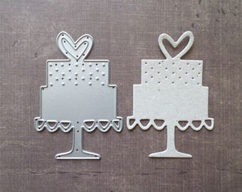 Mother heart wedding cake Sizzix die