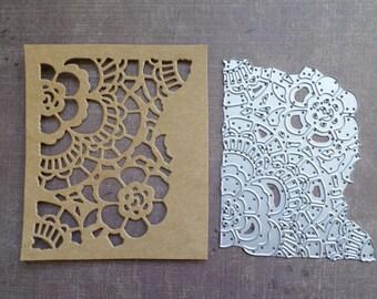 Die cut matrix Sizzix, Tim Holtz Floral background