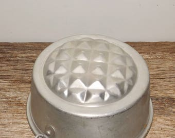 Aluminum small cake mold,metal cake pan,jello mold,taramisu pan,Italy,baking pan,bakeware,unique,bakery decor,ice cream mold,baking mold