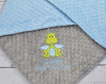 Personalized Minky baby Boy blanket-Baby minky blanket-Dragon minky blanket-Dragon baby blanket-Dragon Boy Girl baby blanket-Dragon nursery
