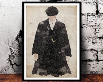 Peaky Blinders Wall Art Tommy Shelby Cillian Murphy A4 Watercolour PeakyFans Birmingham Thomas Shelby gift for him gift for her BBC TV show