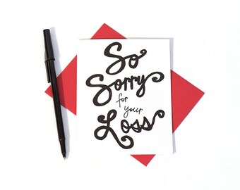 Greeting Card: So Sorry