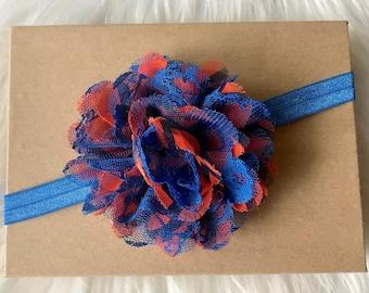 Orange & Blue Headband, Florida Gator Headband, Baby Headband, Infant Headband, Baby Girl Headband, Newborn Headband, Baby Hair Bow, Baby