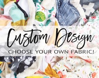Custom Baby Blanket, Minky Lovey, Minky Blanket, Faux Fur Lovey, Faux Fur Blanket, Girl Blanket, Girl Lovey, Boy Blanket, Neutral Lovey
