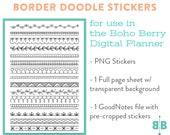 DIGITAL Hand Drawn Border Stickers