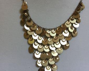 "VCLM vintage gold tone necklace 18"""