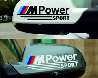"Stickers set for BMW-""M-PowerSport"" 1pair Decal Car-Styling For bmw"