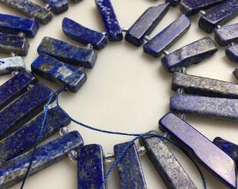 Lapis Lazuli Graduated Irregular Branch Loose 15.5'' Inches per Strand Size Approx 10x22mm to 12x35mm. I-LAP-0260