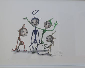 Orignal Creepy Teletubbies drawing