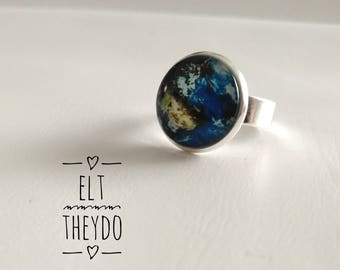 Spring coloroful ring Adjustable ring Cabochon ring