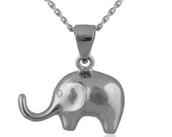 925 Sterling Silver Lucky Elephant Pendant Necklace