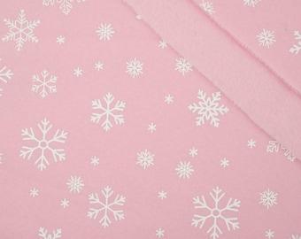 Snowflakes in pink melange sweatshirt