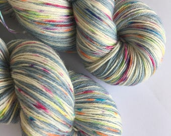 Hand Dyed 4ply Sock Yarn 100g Superwash Wool/Nylon