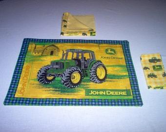 Handmade Placemat/Napkin Made Using John Deere Fabric