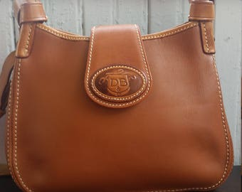 Dooney & Bourke Authentic Vintage Donegal Mini Hobo Tan Crossbody/Shoulder Bag