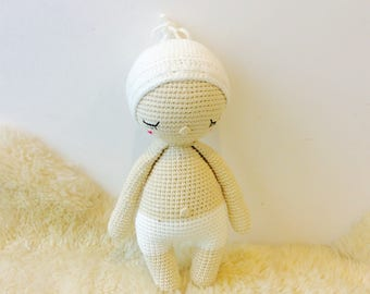 Handmade Crochet Baby Doll, Gift for Newborn, Baby Doll, Baby Amigurumi Toy,Nursery Room Decor, Baby Hoki Doll, Crochet Baby Doll