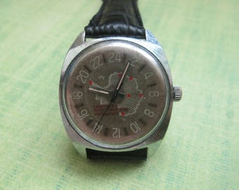 USSR watch Raketa 24 polar 24h antarctic