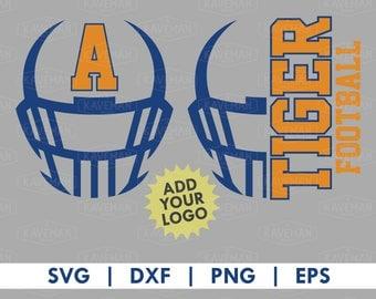 Football Helmet SVG DXF Silhouette Cameo Cricut Cut File