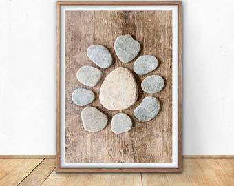 Zen Stones Decor, Meditation Stones Art, Healing Stones Print, Zen Gifts, Zen Stones Bedroom, Zen Chic Decor, Stones Painting
