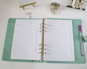 Expense Tracker Planner Insert, A5 Planner Insert, Expense Tracker Planner, A5 Planner Page, A5 Expense Inserts, Printed Planner Inserts
