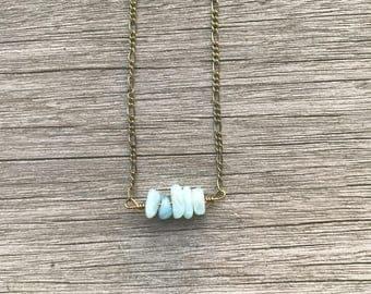 Aquamarine necklace, aquamarine choker, gemstone choker, gemstone necklace, dainty choker, boho choker, March birthstone, gift for her