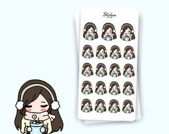 SALE HOT COCOA Sarah, hot drink, hot chocolate, chocolate drink, winter, winter vibes, warmth, planner sticker I Sdw33