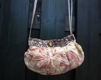 Small shoulder bag in thick cotton