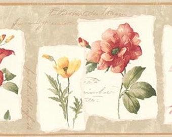 Floral Wallpaper Border B74983