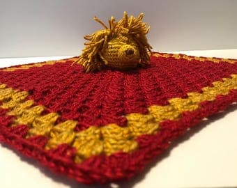 GoT Inspired House Lannister Golden Lion Baby Lovey With Rattle