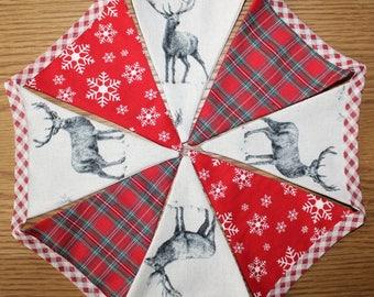 Christmas bunting, stag bunting, deer bunting, christmas banner, christmas garland, stag banner, christmas decoration, xmas banner