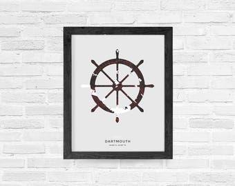 Dartmouth Ships Wheel Print
