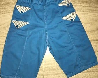 Blue Cotton Kids Pants Size 5T