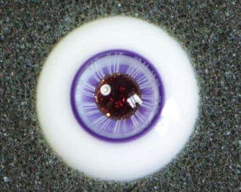Candied Lilac - Handmade Purple Glitter BJD Glass Eyes (D08) | 14mm, 16mm
