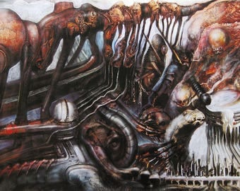 "HR Giger  - ""Karawane"" - Mixed Media, hand signed and numbered, (6/80) - 1984/2009"