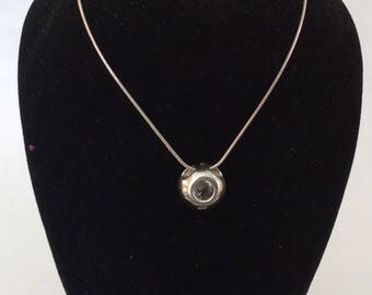 Sterling silver and crystal necklace with necklace #550 s