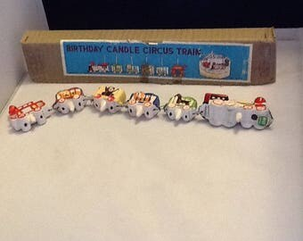 Vintage Adorable Birthday Candle Circus Train Topper  Never Used