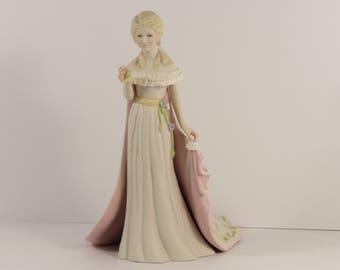 """Vintage Cybis """"Fleurette"""" Porcelain Art Studio Limited Edition Figurine."""