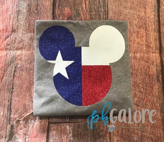 Texas Mickey Head Texas Flag Texas Disney Vacation