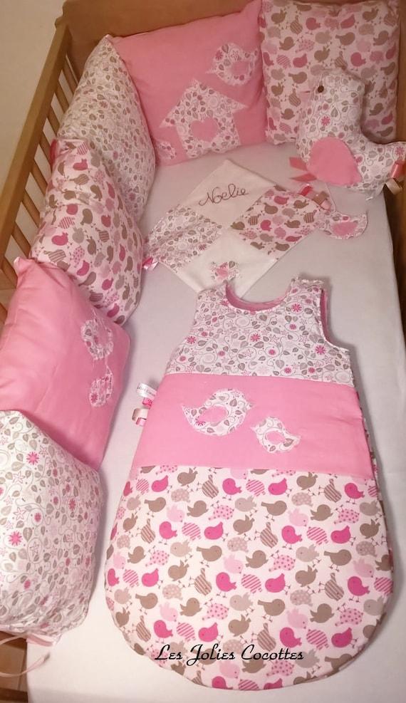 tour de lit modulable avec six coussins collection famille. Black Bedroom Furniture Sets. Home Design Ideas